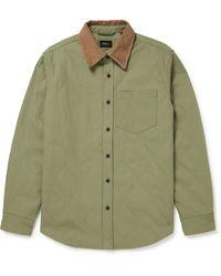 Bellerose Freeman Corduroy-trimmed Quilted Cotton Overshirt - Green