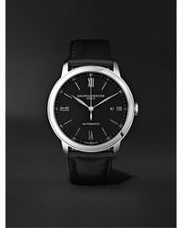 Baume & Mercier Classima Automatic 42mm Stainless Steel And Leather Watch - Black