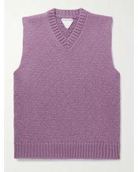 Bottega Veneta Wool And Cashmere-blend Jumper Vest - Purple
