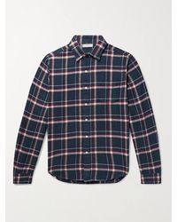 Alex Mill Checked Cotton-flannel Shirt - Blue