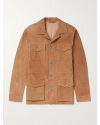 Valstar Suede Field Jacket - Brown