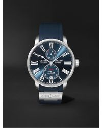 Ulysse Nardin Marine Torpilleur Automatic 42mm Stainless Steel And Rubber Watch - Blue