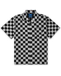 Beams Plus - Camp-collar Checkerboard Lyocell-blend Jacquard Shirt - Lyst
