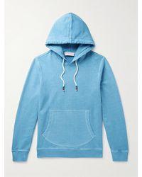 Orlebar Brown Vero Slim-fit Washed Cotton-jersey Hoodie - Blue