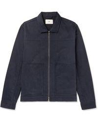 Folk Raft Cotton-twill Jacket - Blue