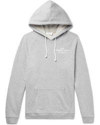 FRAME - Printed Mélange Loopback Cotton-jersey Hoodie - Lyst