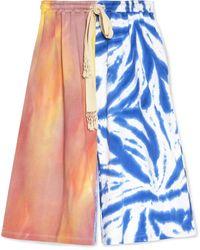 Loewe Paula's Ibiza Tie-dyed Cotton Drawstring Shorts - Blue