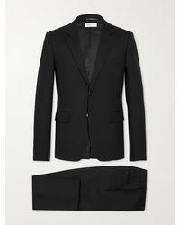 Saint Laurent Slim-fit Virgin Wool-gabardine Suit - Black