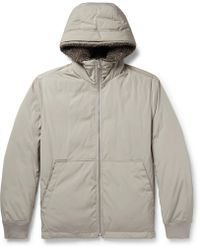 Theory | Montrose Faux Shearling-trimmed Shell Hooded Down Jacket | Lyst