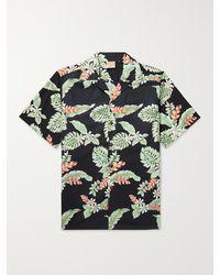 Go Barefoot Tiare Garden Camp-collar Printed Cotton Shirt - Black