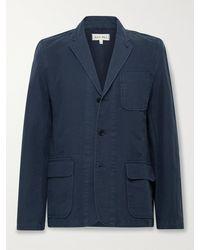 Alex Mill Mill Unstructured Bci Cotton-twill Blazer - Blue