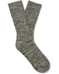 Thunders Love Mélange Recycled Cotton-blend Socks - Green
