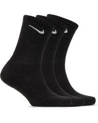 Nike - Three-pack Cushioned Cotton-blend Socks - Lyst