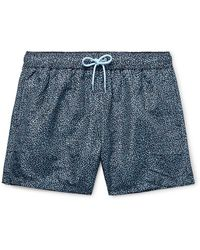 Paul Smith Mid-length Printed Swim Shorts - Blue