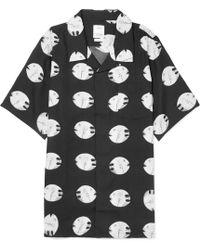 Visvim - Camp-collar Printed Silk And Cotton-blend Shirt - Lyst