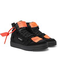 Off-White c/o Virgil Abloh Off-court 3.0 Suede, Leather And Canvas High-top Trainers - Black