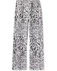 Needles Leopard-jacquard Track Pants - White