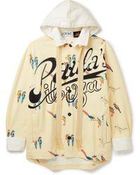 Loewe Paula's Ibiza Printed Loopback Cotton-jersey Hoodie - Multicolor