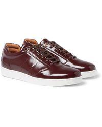 Want Les Essentiels De La Vie - Lennon Patent-leather Sneakers - Lyst