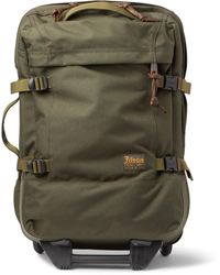 Filson Dryden 56cm Leather-trimmed Cordura Carry-on Suitcase - Green