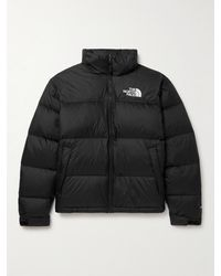 The North Face 1996 Retro Nuptse Logo-embroidered Quilted Dwr-coated Ripstop Down Jacket - Black