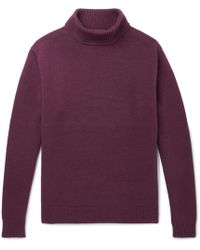 Camoshita - Wool And Cashmere-blend Rollneck Sweater - Lyst