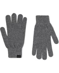 Paul Smith Cashmere And Wool-blend Gloves - Grey