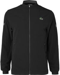 Lacoste Sport Novak Djokovic Mesh-panelled Tech-jersey Tennis Jacket - Black