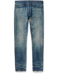John Elliott The Cast 2 Slim-fit Jeans - Blue