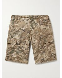 Carhartt WIP Aviation Camouflage-print Cotton-ripstop Cargo Shorts - Natural
