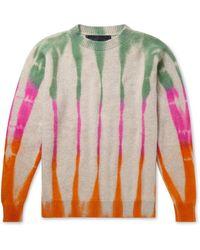 The Elder Statesman Tie-dyed Cashmere Jumper - Multicolour