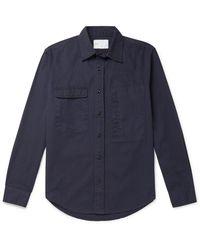 Adsum Cotton-twill Shirt - Blue