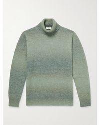 Altea Slim-fit Degradé Knitted Rollneck Jumper - Green