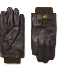 Dents Buxton Touchscreen Leather Gloves - Brown