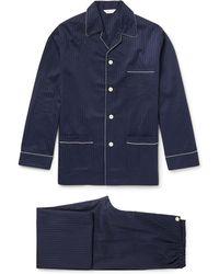 Derek Rose | Royal Pin-dot Cotton-jacquard Pyjama Set | Lyst