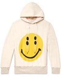 Kapital Smiley Printed Loopback Cotton-jersey Hoodie - Multicolor