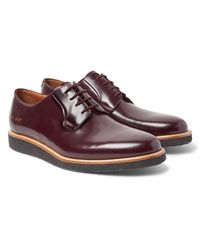 Common Projects Polished-leather Derby Shoes - Purple