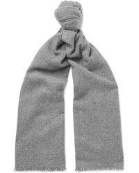 Anderson & Sheppard - Pinhead Cashmere And Wool-blend Scarf - Lyst