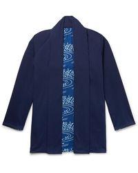 Blue Blue Japan Reversible Indigo-dyed Cotton-jersey Jacket - Blue