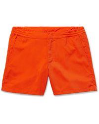 CDLP Grand Hotel Tremezzo Aperitivo Mid-length Swim Shorts - Orange