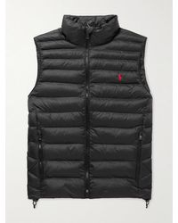 Polo Ralph Lauren Logo-embroidered Quilted Padded Recycled Nylon Gilet - Black