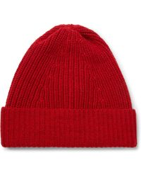 The Workers Club | Ribbed Merino Wool Beanie | Lyst