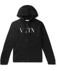 Valentino Logo Hoodie - Black