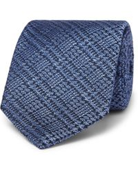 Charvet - 7.5cm Prince Of Wales Checked Wool And Silk-blend Jacquard Tie - Lyst