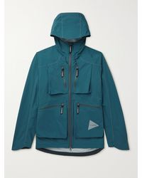 and wander E-vent Hooded Pertex Nylon Jacket - Blue