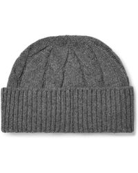 Anderson & Sheppard - Cable-knit Wool Beanie - Lyst