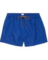 Paul Smith Short-length Swim Shorts - Blue