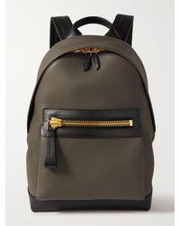 Tom Ford Full-grain Leather Backpack - Green