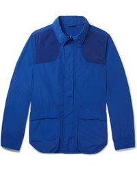 Aspesi - Contrast-trimmed Shell Field Jacket - Lyst