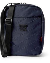 Herschel Supply Co. Shell-jacquard Messenger Bag - Blue